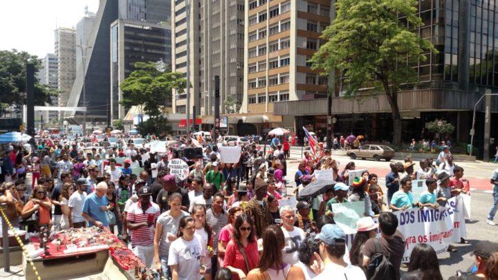 Marcha dos Imigrantes desta vez ocupou a avenida Paulista, em São Paulo. Foto: Rodrigo Borges Delfim/MigraMundo.