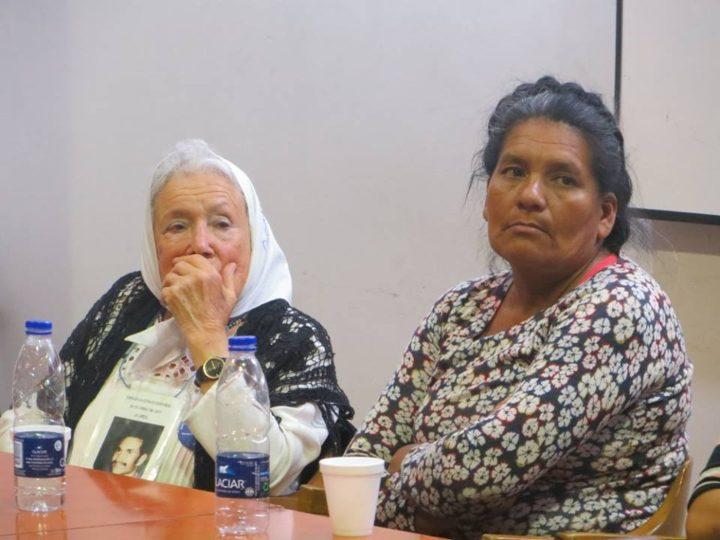 Norita Cortiñas y Noolé (Cipriana Palomo). Foto: Luciana Mignoli, Periodista, Red de Investigadores en Genocidio y Política Indígena en Argentina.