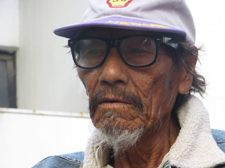 Ni´daciye (97), sobreviviente de la masacre de Rincón Bomba. Foto Luciana Mignoli,Red de Investigadores en Genocidio y Política Indígena en Argentina.