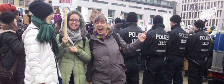 Fotos vom 'Women's March' in Berlin