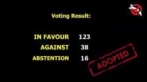 [En 2017 l'ONU va interdire les armes nucléaires]  6. Les votes des membres de l'OTAN et des États bénéficiant d'une dissuasion nucléaire élargie
