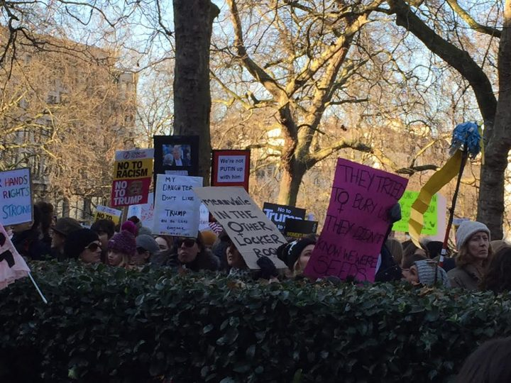 Der Anti-Trump Women's March in London