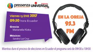 @RadioPressenza 13/01/2017 Grecia y México
