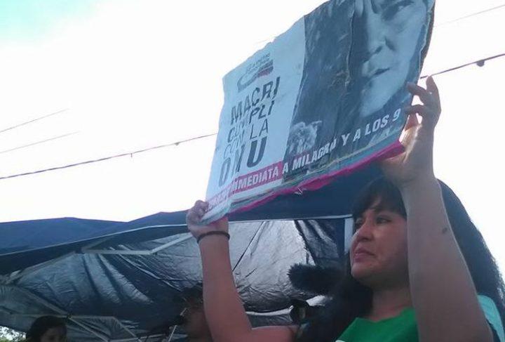 """El combate """"vivo"""" de la Tupac Amaru. La olla popular frente a la cárcel de Alto Comedero"""
