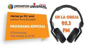 Programa Especial: Resumen @RadioPressenza Internacional 2016
