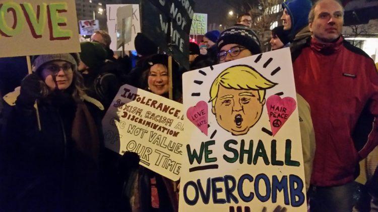 Trump-Proteste in Berlin