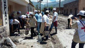 La Tupac Amaru prestó asistencia en las zonas afectadas por el alud