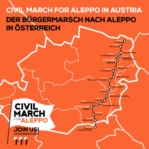 La Civil March for Aleppo raggiunge Vienna