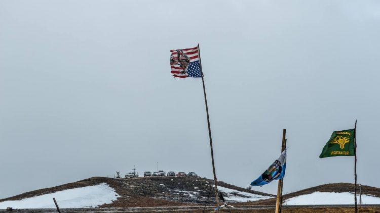 Flags Oceti camp