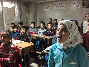 Aleppo: School Children in the Factory