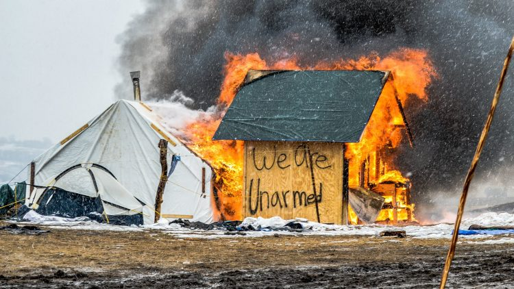 Forced evacuation at Standing Rock
