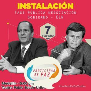 Agrupaciones y movimientos apoyan inicio de negociaciones de paz entre ELN y gobierno colombiano