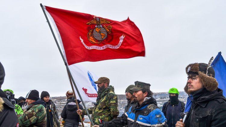 veterans Oceti camp