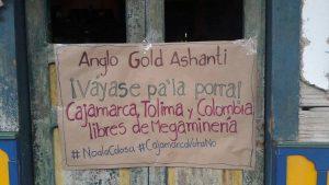 """Un pueblo de Colombia le dice """"NO"""" a la multinacional minera Anglo Gold Ashanti"""