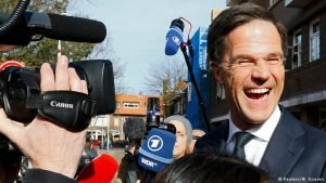 Dutch PM Rutte's VVD emerges top in first exit poll