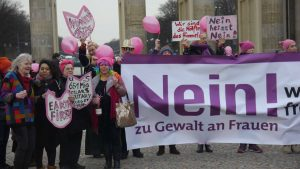 Internationaler Frauentag am Brandenburger Tor