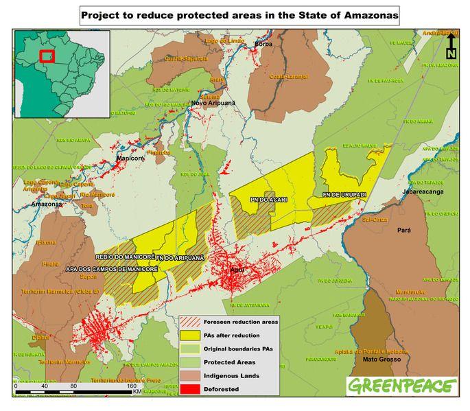 Le foto di Greenpeace denunciano la deforestazione in Amazzonia