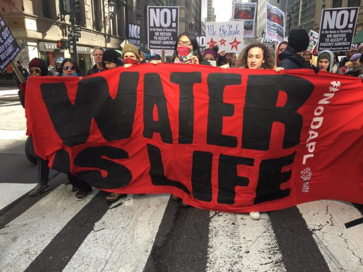 Marcia per Standing Rock a New York