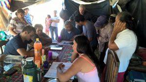 Continúa el acampe guaraní en Salta