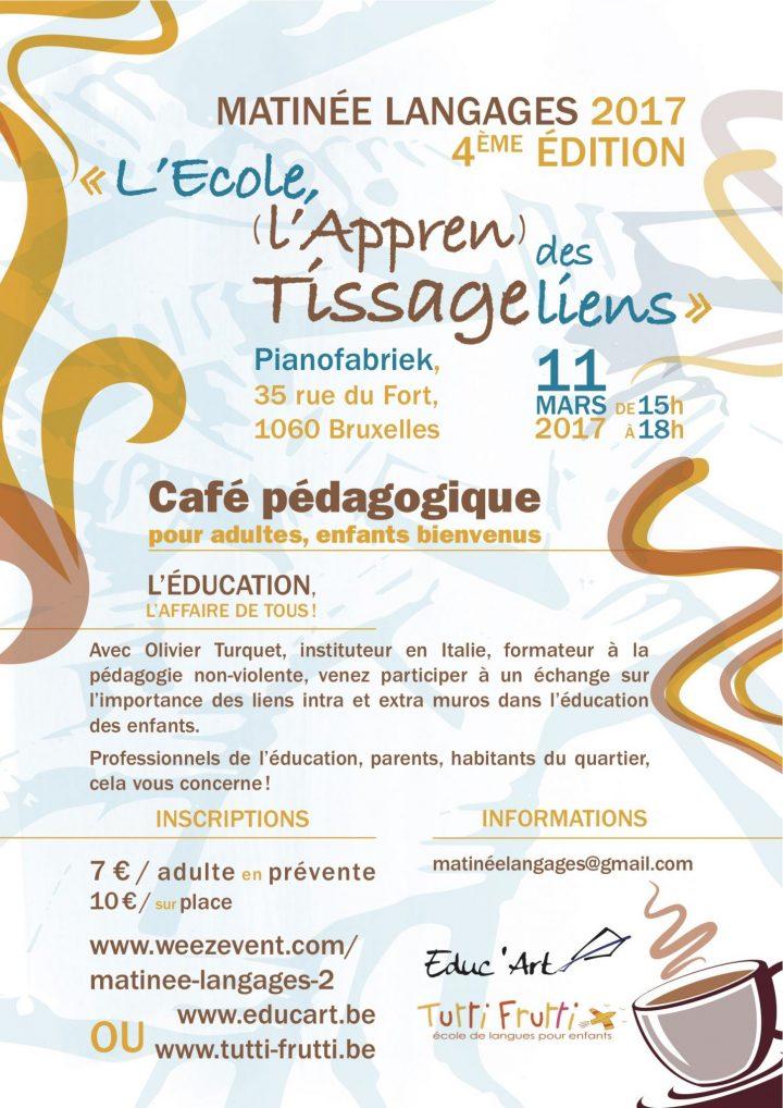 Appren-tissage à Bruxelles le 11 mars