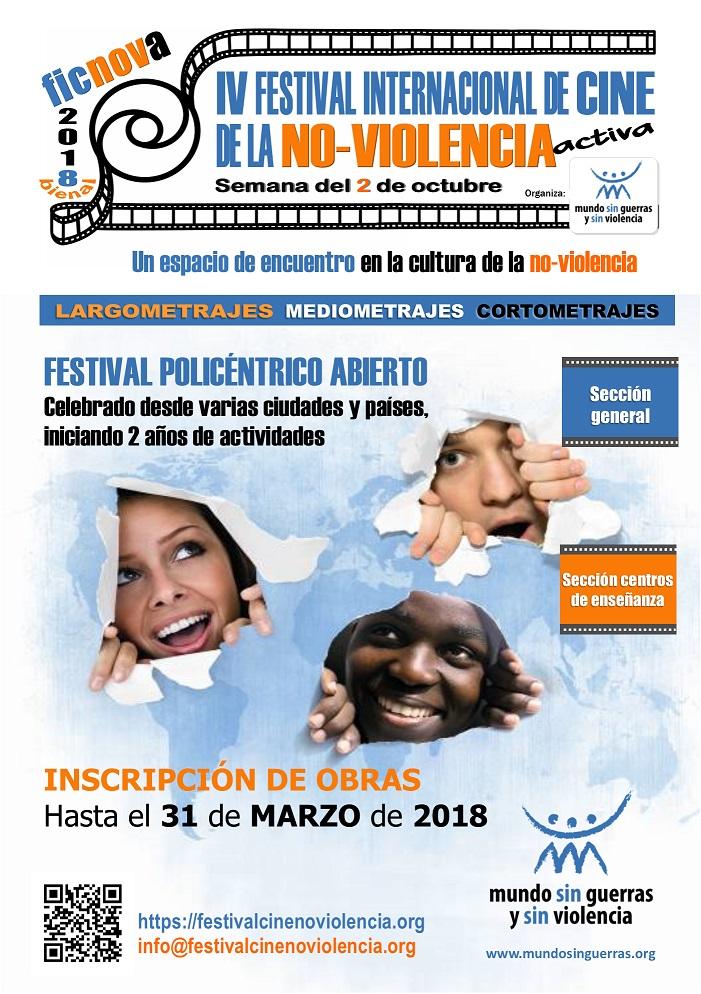 Arranca la IV edición del Festival Internacional de Cine de la No Violencia Activa – FICNOVA 2018