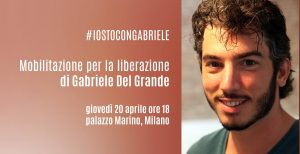 Mobilitazione per la liberazione di Gabriele Del Grande
