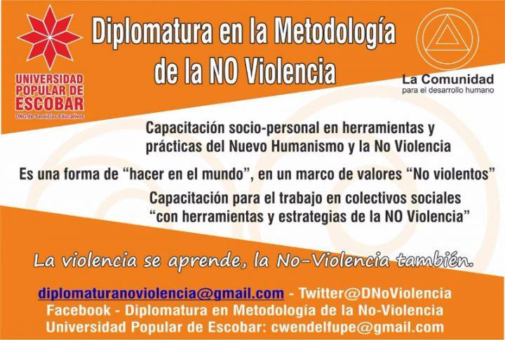 Avanza inscripción en Diplomatura en Metodología de la No-violencia
