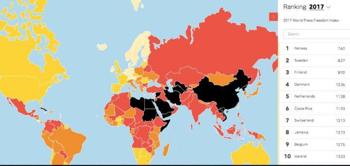 Rapporto sulla libertà di stampa 2017