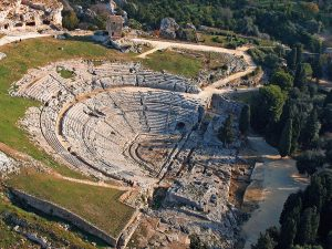 The Greek Theatre in Syracuse examines history through art