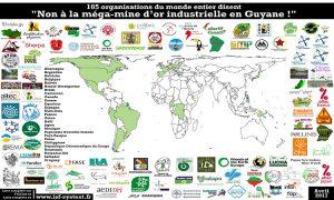 Plus de 100 organisations du monde entier disent non à la méga-mine d'or industrielle en Guyane !