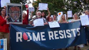 'Rome resists', US expats protest against Trump