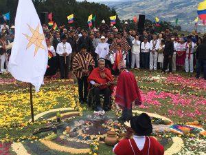 Ceremonia ancestral indígena para Lenín Moreno, Presidente de Ecuador