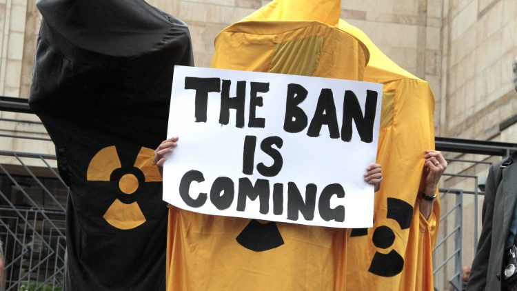 ICAN applauds draft treaty to ban nuclear weapons