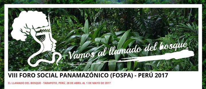 Rocío Huamancóndor desde VIII Foro Social Panamazónico