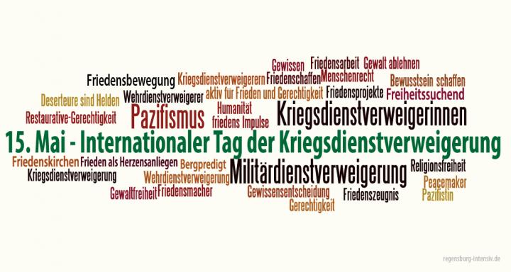 Forderung nach universellen bedingungslosen Menschenrechts auf Kriegsdienstverweigerung