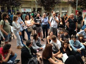 Asamblea del sindicato de inquilinos en Barcelona