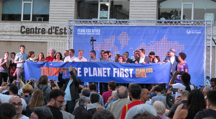 """Fearless Cities: """"Trump! The planet first"""". Acto inaugural en Barcelona"""