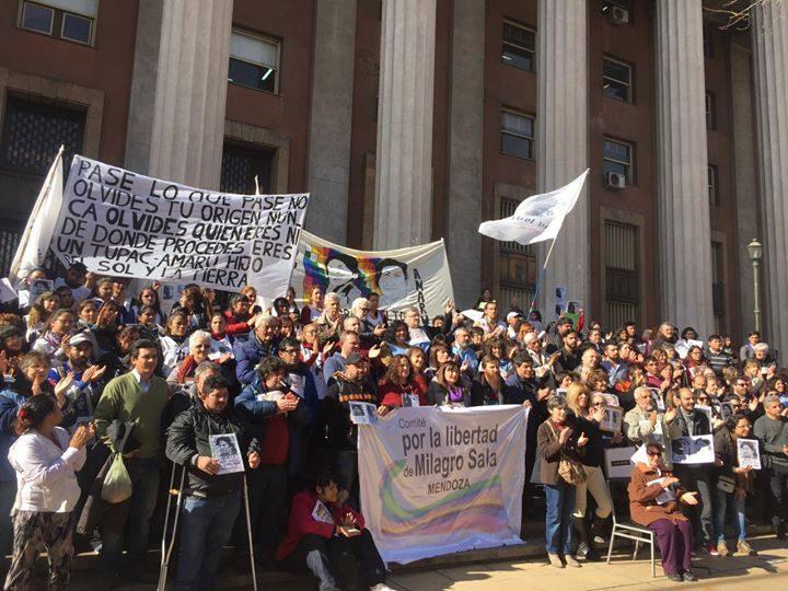 Comité por la Libertad de Milagro Sala viajó a Mendoza y exigió la libertad de todos los presos políticos