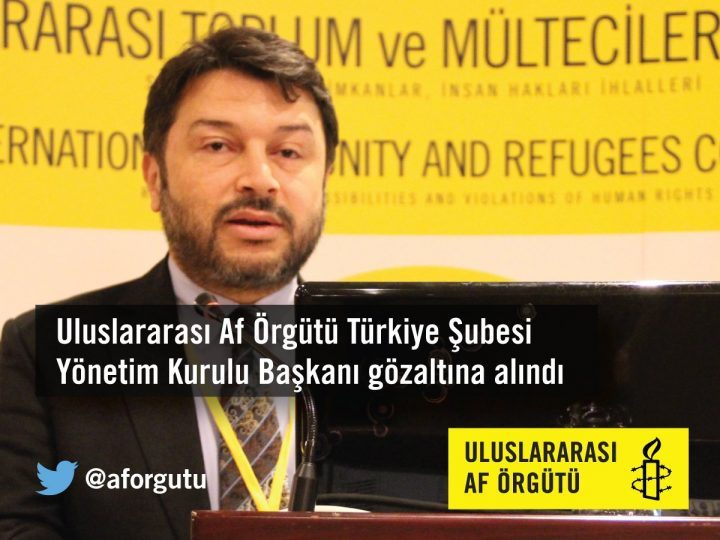 Incriminato il Presidente di Amnesty International in Turchia