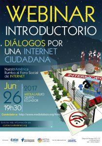 Comienza serie de seminarios virtuales por una Internet Ciudadana