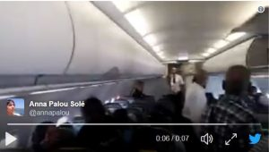 11 passengers thrown off plane following spontaneous protest over on-board deportee