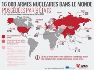 L'ONU adopte un traité bannissant l'arme atomique : 9 pays détenteurs de l'arme nucléaire dont la France deviennent «hors la loi» internationale