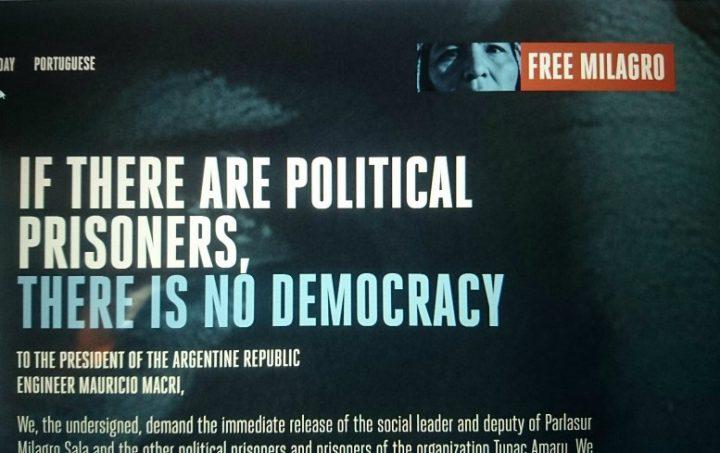 Neue internationale Kampagne für die Freiheit von Milagro Sala gestartet