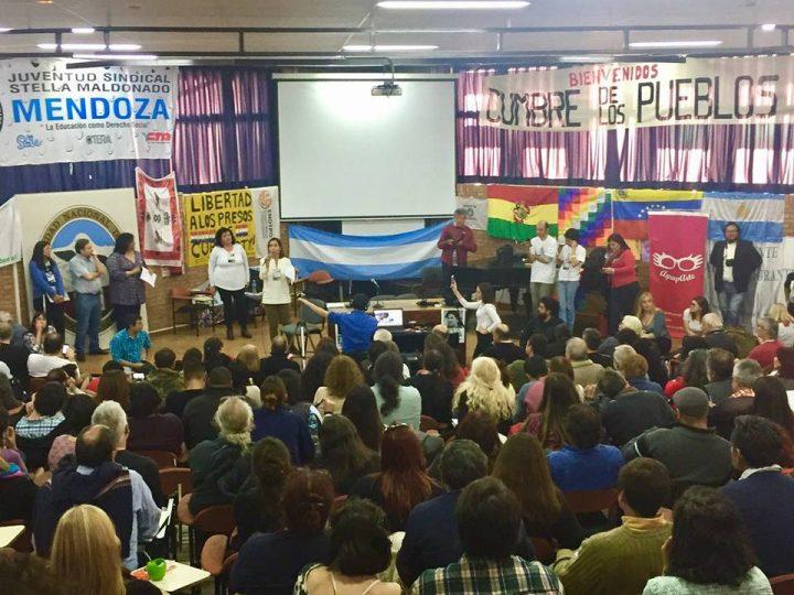 Concluyó Cumbre de los Pueblos en Mendoza: Apoyo a la Revolución Bolivariana y rechazo a Mercosur de las corporaciones