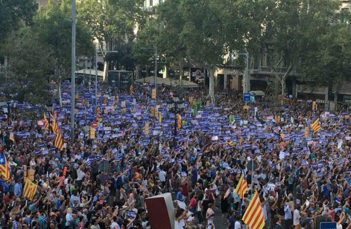 Βαρκελώνη, υπερβατική διαδήλωση: «Δε φοβόμαστε»