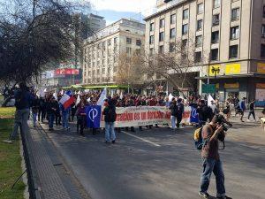 Los profesores se movilizan en Santiago