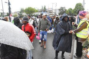 Una nueva evacuación en el centro humanitario Porte de la Chapelle