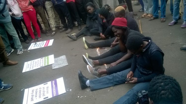 Kenya: Women's nonviolent protest attacked with stones as post-election tension increases