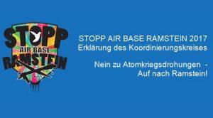 Erklärung des Koordinierungskreises: Nein zu Atomkriegsdrohungen – Auf nach Ramstein!