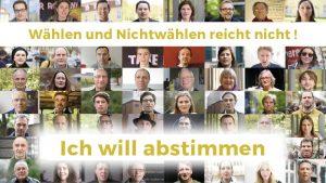 """Aufruf zur bundesweiten Petition """"Ich will abstimmen"""""""